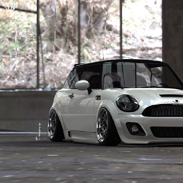 Modifikasi Stance MINI Cooper Karya Liberty Walk