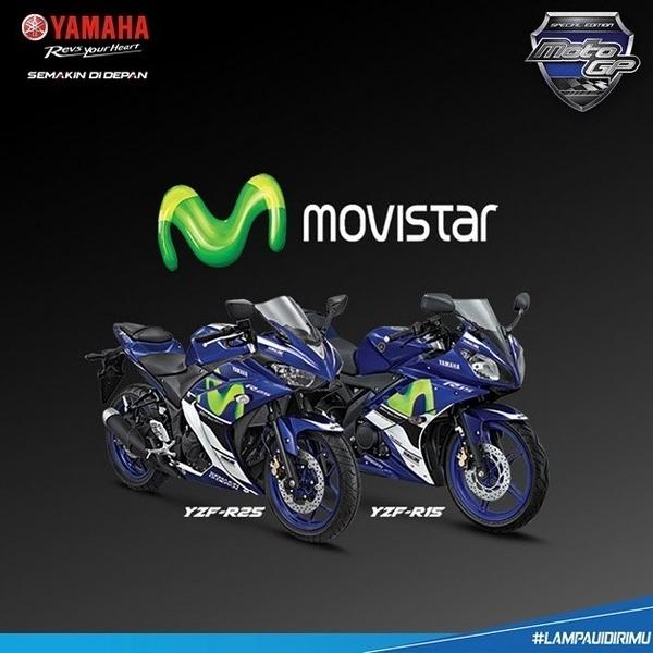 Yamaha R25 dan Yamaha R15 Edisi MotoGP dan Monster Tech 3