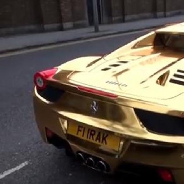 Ferrari 458 Spyder Ini Dilapis Emas Batangan