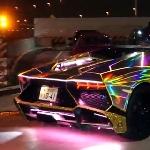 Beginilah Lamborghini Aventador Dibungkus Dengan LED