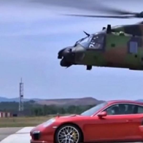 Ketika Porsche 911 Turbo S Beradu Cepat dengan Helikopter