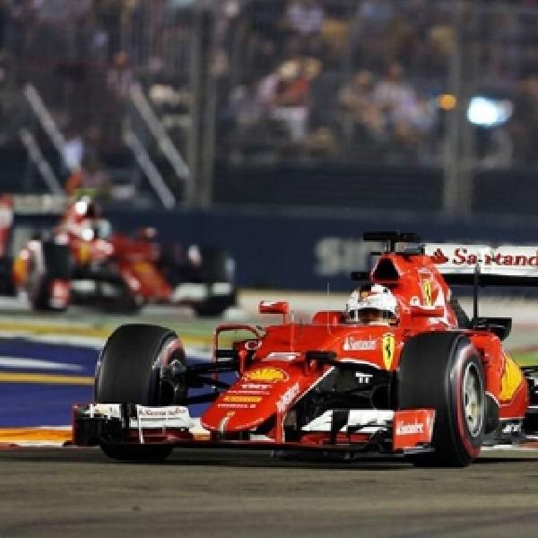 F1: Vettel Raih Kemenangan Ketiga di Singapura