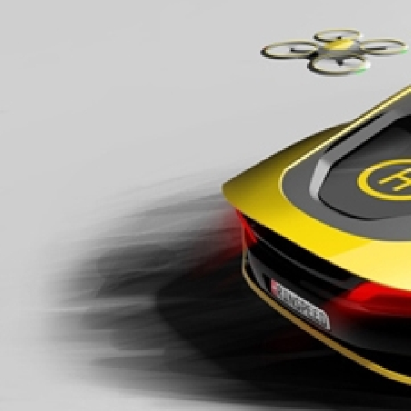Mobil Sport Hybrid Otonom Ini Dilengkapi Drone