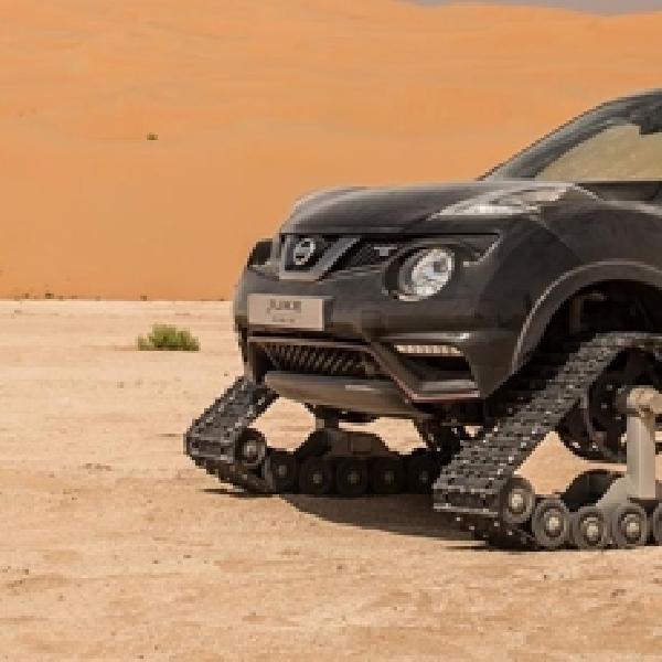 Pakai Ban Panser, Nissan Juke Nismo RS Taklukkan Gurun Pasir