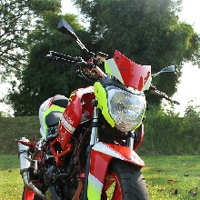 Honda CS1 modifikasi bergaya street fighter