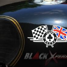 Grafis Bendera Inggris dan Finis