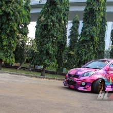 Modifikasi Daihatsu Sirion Drift street racing