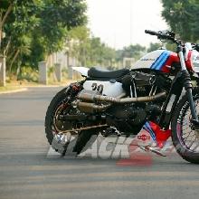 Modifikasi scrambler Harley-Davidson Sportster 883 by BMS