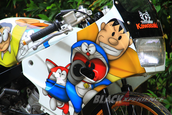 Tokoh Anime asal Jepang terpampang di fairing hingga tangki