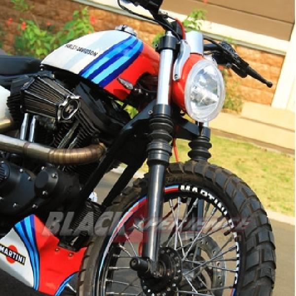 Modifikasi Scrambler Harley-Davidson Sportster 883