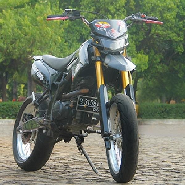 Modifikasi Honda Megapro Supermoto