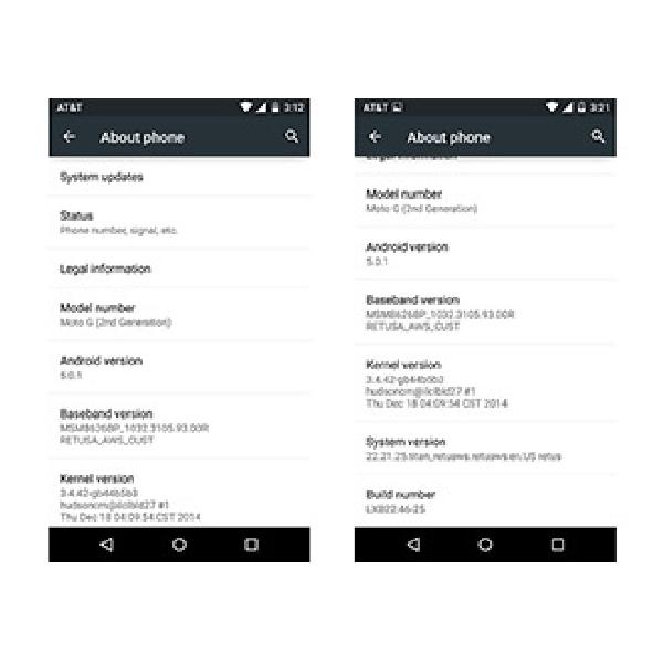 Motorola Moto G Diam-Diam Sudah Terima Lollipop