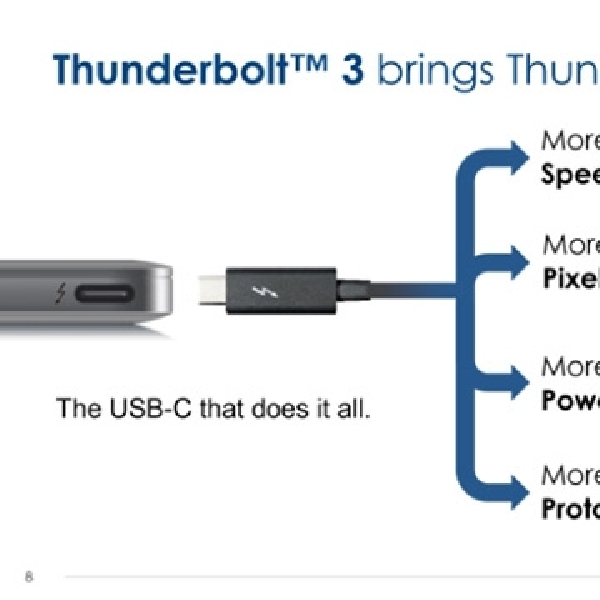 Intel Umumkan Thunderbolt 3 dengan Koneksi USB-C