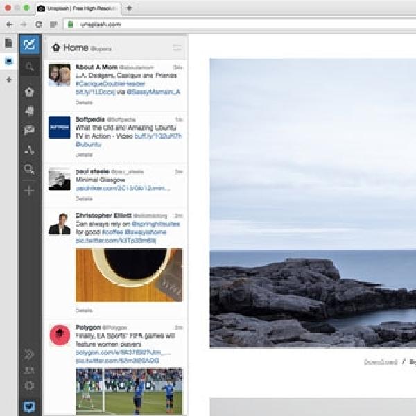 Opera Hadirkan Fitur Panel Samping di Browser Opera 30