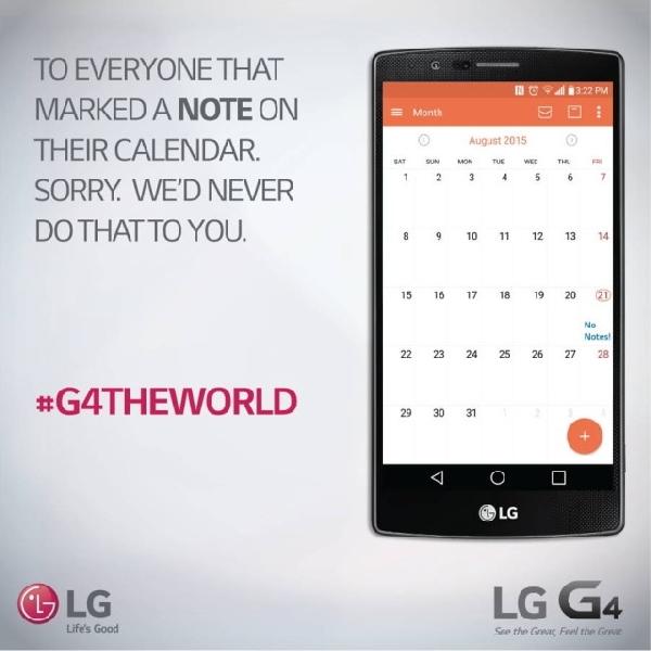 Galaxy Note 5 tak Hadir di Eropa, LG Baca Peluang Emas untuk LG G4