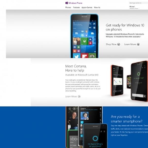 Microsoft Tutup Situs Web Resmi Windows Phone
