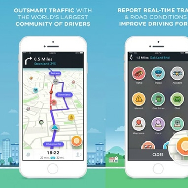 Aplikasi Navigasi Waze Terima Perubahan Total