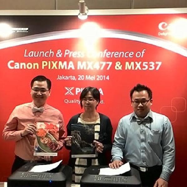 PIXMA MX477 & PIXMA MX537, Printer All-in-one Berfitur Nirkabel