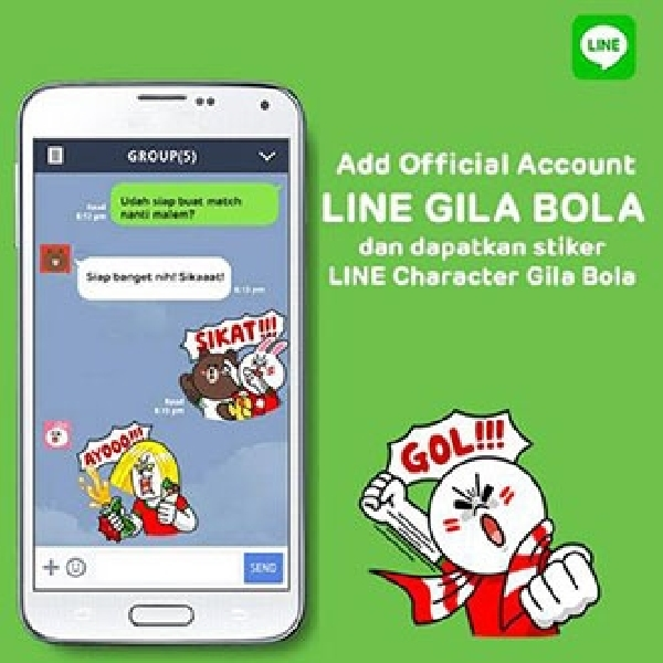 Kuis dan Informasi Seru di Official Account, Line Gila Bola