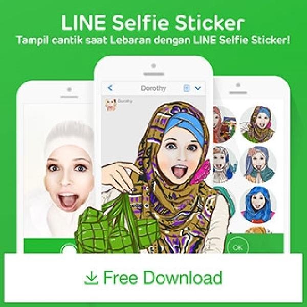Rayakan Idul Fitri Dengan Selfie Sticker Dari Line