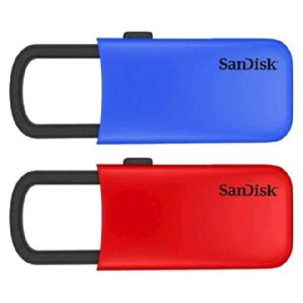 SanDisk Cruzer U, FlashDrive Praktis Dengan U-Clip dan Desain Warna Mencolok