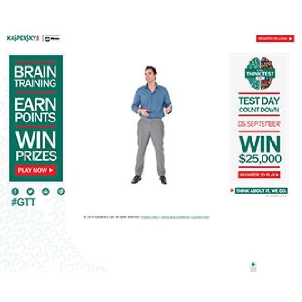 Bersama Scuderia Ferrari dan Mensa,  Kaspersky Lab Mengadakan Kompetisi Game Online, Global Think Test